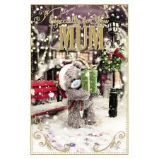 3D Holographic Especially For You Mum Me to You Bear Christmas Card