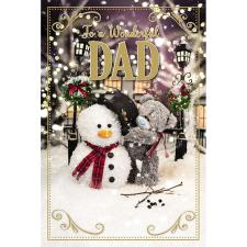 3D Holographic Wonderful Dad Me to You Bear Christmas Card