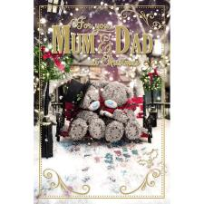 3D Holographic For You Mum & Dad Me to You Bear Christmas Card