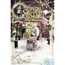 3D Holographic Special Sister Me to You Bear Christmas Card