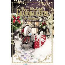 3D Holographic Wonderful Granddaughter Me to You Bear Christmas Card
