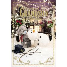 3D Holographic Special Grandson Me to You Bear Christmas Card