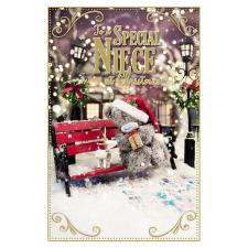 3D Holographic Special Niece Me to You Bear Christmas Card