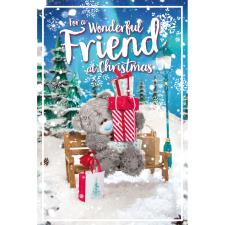3D Holographic Wonderful Friend Me to You Bear Christmas Card