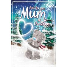 3D Holographic Just For You Mum Me to You Bear Christmas Card