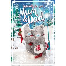 3D Holographic Mum & Dad Me to You Bear Christmas Card