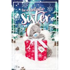 3D Holographic Fantastic Sister Me to You Bear Christmas Card