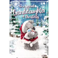 3D Holographic Special Granddaughter Me to You Bear Christmas Card