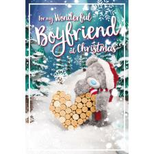 3D Holographic Wonderful Boyfriend Me to You Bear Christmas Card