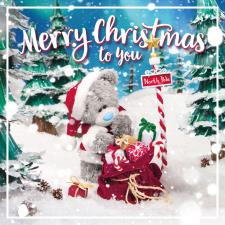3D Holographic Sack Of Presents Me to You Bear Christmas Card