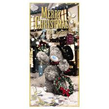 Merry Christmas Photo Finish Me To You Bear Gift / Money Wallet