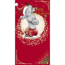 Merry Christmas Bear Stood On Bauble Me To You Bear Christmas Card