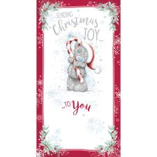 Sending Christmas Joy Me to You Bear Christmas Card