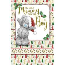 Mummy From Your Little Boy Me To You Bear Christmas Card