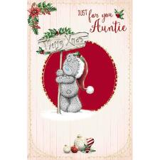 Just For You Auntie Me To You Bear Christmas Card