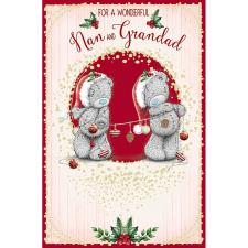 Wonderful Nan & Grandad Me To You Bear Christmas Card