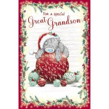 Great Grandson Me to You Bear Christmas Card