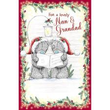 Lovely Nan & Grandad Me to You Bear Christmas Card