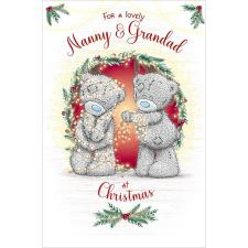 Lovely Nanny & Grandad Me to You Bear Christmas Card