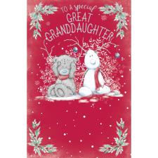 Special Great Granddaughter Me to You Bear Christmas Card