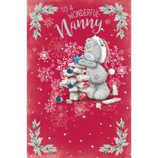 Wonderful Nanny Me to You Bear Christmas Card