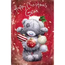 Gran Softly Drawn Me To You Bear Christmas Card