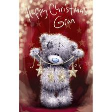 Gran Star Banner Softly Drawn Me to You Bear Christmas Card