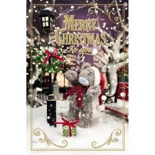 Merry Christmas Bear In Scarf Photo Finish Me To You Bear Christmas Card