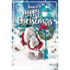 Bear Hanging Wreath Photo Finish Me to You Bear Christmas Card