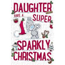 Daughter My Dinky Me To You Bear Christmas Card