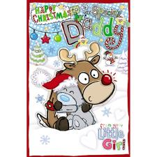 Daddy From Little Girl My Dinky Me to You Bear Christmas Card