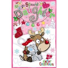 Special Daughter My Dinky Me to You Bear Christmas Card