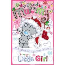 Mummy From Little Girl My Dinky Me to You Bear Christmas Card