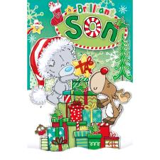 Brilliant Son My Dinky Bear Me to You Bear Christmas Card