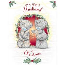 Husband Large Me to You Bear Christmas Card