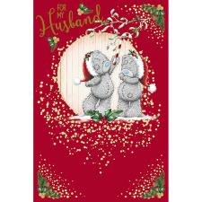 Husband Under Mistletoe Me To You Bear Christmas Card