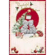 Wonderful Sister & Partner Me To You Bear Christmas Card