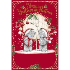 Special Brother & Partner Me To You Bear Christmas Card