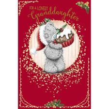 Granddaughter Holding Cake Me To You Bear Christmas Card
