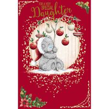 Special Daughter Holding Bauble Tree Me To You Bear Christmas Card