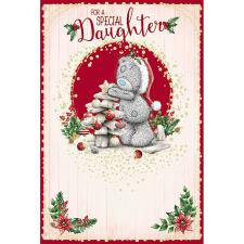 Daughter Me To You Bear Christmas Card