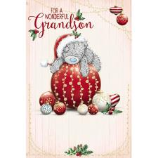 Wonderful Grandson Me To You Bear Christmas Card
