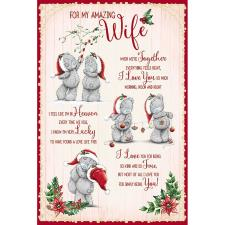 Amazing Wife Poem Me To You Bear Christmas Card