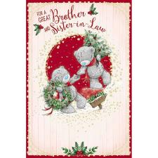 Great Brother & Sister In Law Me To You Bear Christmas Card