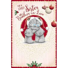 Sister & Brother In Law Me To You Bear Christmas Card