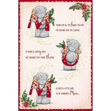 Mum Poem Me To You Bear Christmas Card