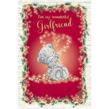 Wonderful Girlfriend Love Lights Me to You Bear Christmas Card
