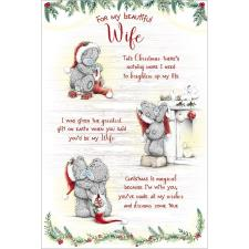Beautiful Wife Verse Poem Me to You Bear Christmas Card