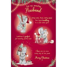Amazing Husband Verse Poem Me to You Bear Christmas Card
