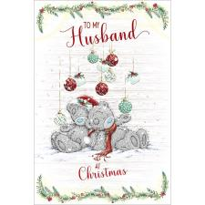 To My Husband Me to You Bear Christmas Card